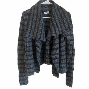 Lou & Grey Overcast Open Cardigan Striped Wool S